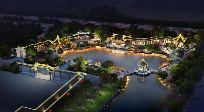 """南京大学""""苏州香雪海园""""设计方案概要图片"""